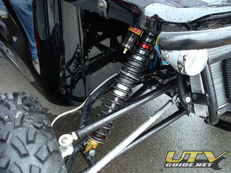 Redline Riot - Front Suspension with Elka piggyback shocks