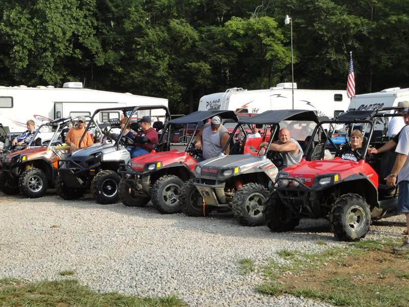 Polaris RZRs at the 2010 Blue Thunder PRC Rally