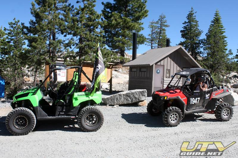 Kawasaki Teryx and Polaris RZR XP at the Rubicon Trailhead - Loon Lake