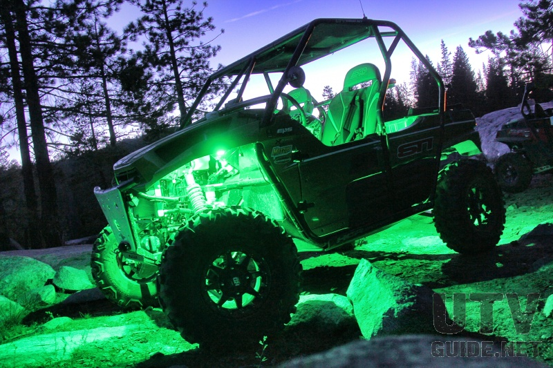 Green LED Rock Lights