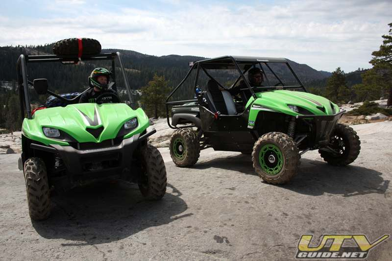 Kawasaki Teryxs on the Rubicon 4x4 Trail