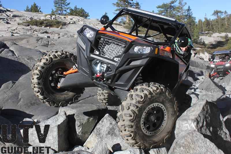 Polaris RZR XP 900 in Little Sluice on the Rubicon Trail