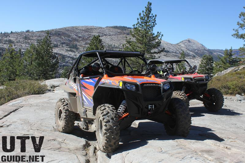 Polaris RZR XP 900s at the top of Observation Poiint - Rubicon Trail