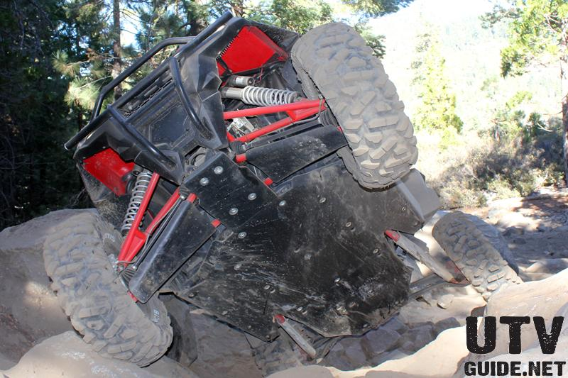 Polaris RZR XP coming up Big Sluice on the Rubicon Trail