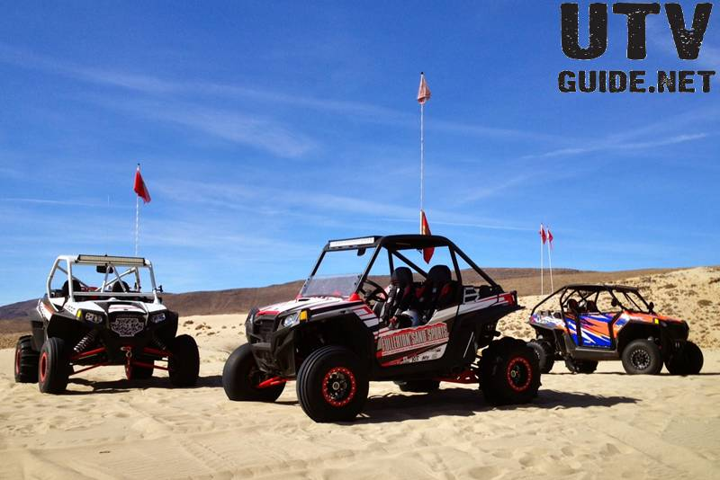 Polaris RZR XP 900s at Sand Mountain