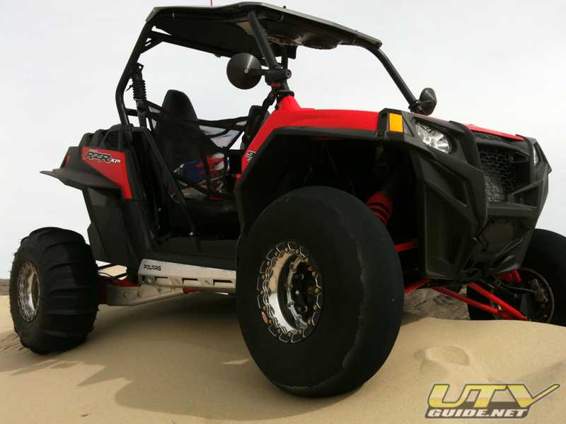 Polaris RZR XP at the top of Sand Mountain