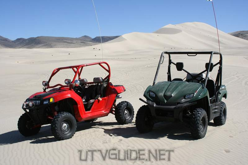 Polaris RZR and Kawasaki Teryx at Sand Mountain, Nevada - April 2008