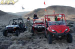 Polaris RZR S, Polaris RZR and Kawasaki Teryx past End of the World