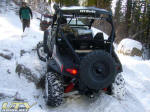 2009 Polaris RZR S in the snow