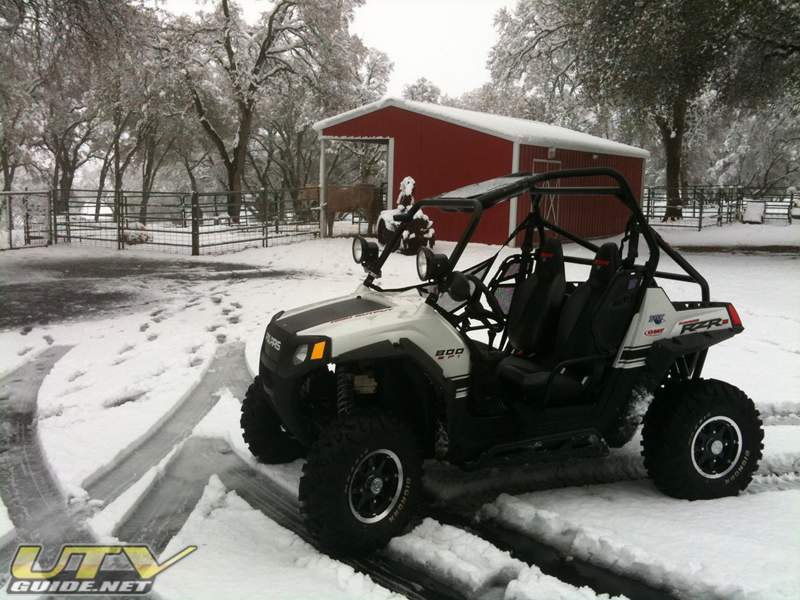 2010 Polaris RZR S in the snow