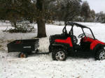 Polaris RZR with trailer