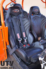 Triple X Seats Black Widow Suspension Seats with Simpson Harnesses