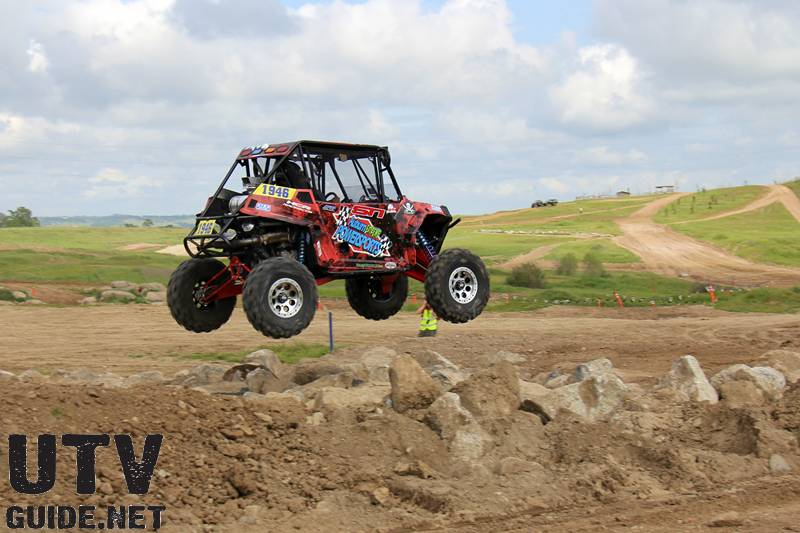 Polaris RZR XP 900 jumping at the Ultra4 Stampede