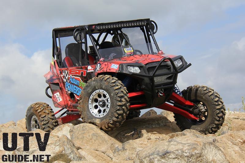Polaris RZR XP 900 with HCR Long Travel and STI Roctane XD Tires