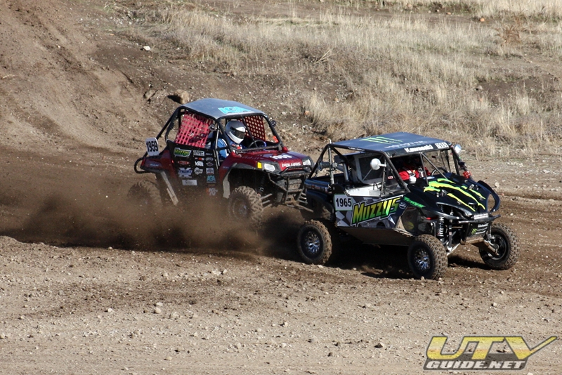 Kawasaki Teryx and Polaris RZR racing at Prairie City SVRA