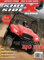 November 2008 issue of Side x Side Action Magazine